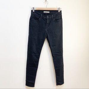 Levi's super skinny black denim jeans 28